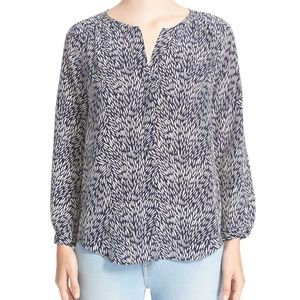 Joie 'Purine C' Mixed Print Silk Blouse